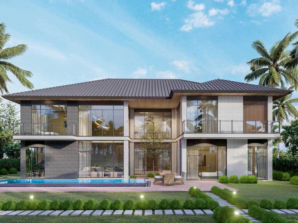 Mẫu dự kiến 3 của Riverfront Grand Villa với kích thước đất khoảng 28mx32m và diện tích đất khoảng 896m2 chỉ có 1 căn duy nhất.