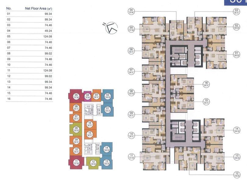 Mặt bằng tầng điển hình block CT3