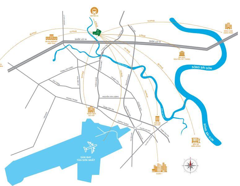 Hạ tầng kết nối giao thông từ Pi City
