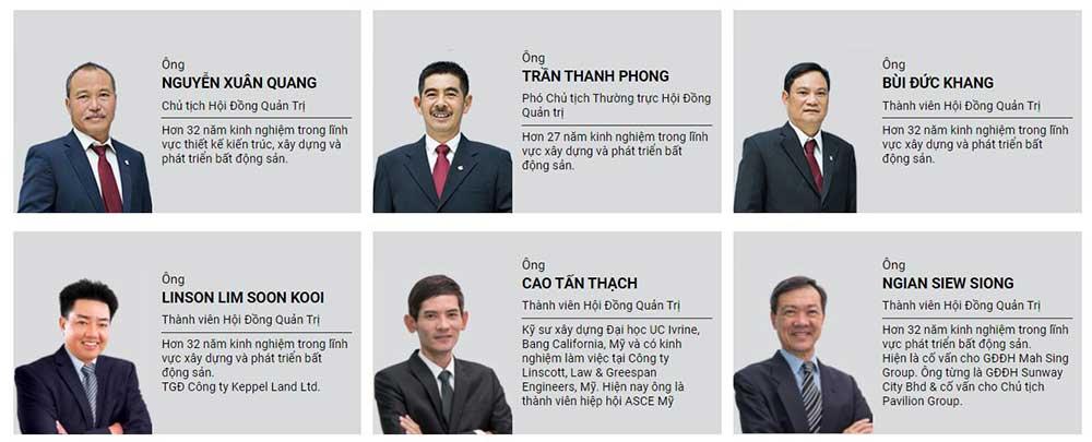 Ban lãnh đạo tập đoàn Nam Long