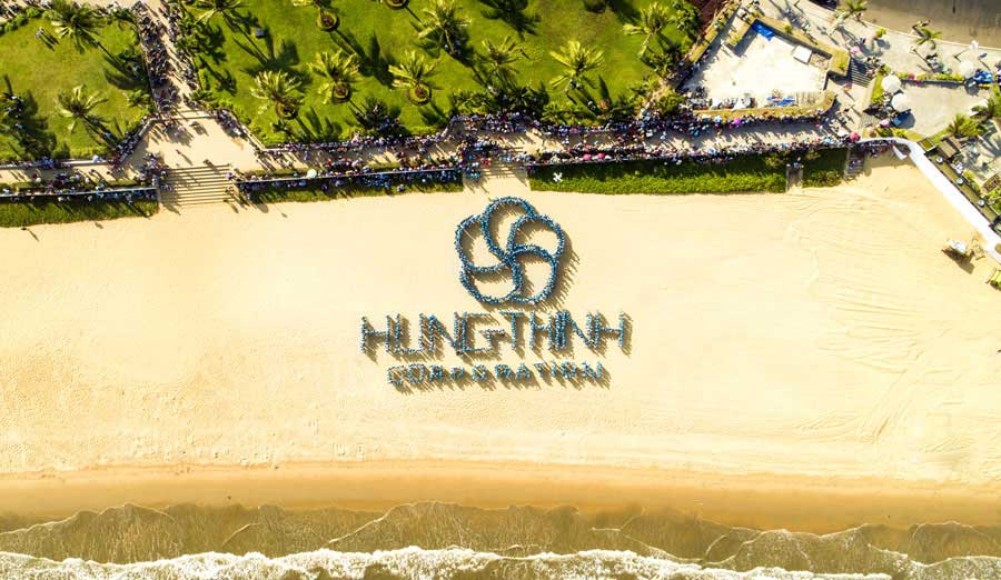 Flycam Tập thê nhân viên Hưng Thịnh