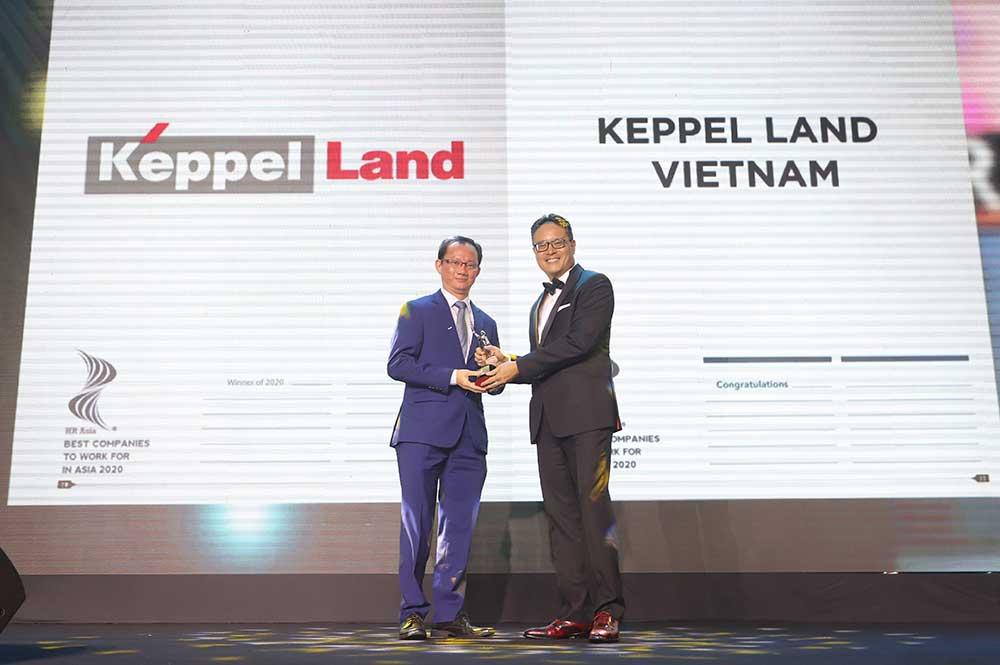 ông Joseph Low, Tổng Giám đốc Keppel Land Việt Nam nhận giải HR Asia Award