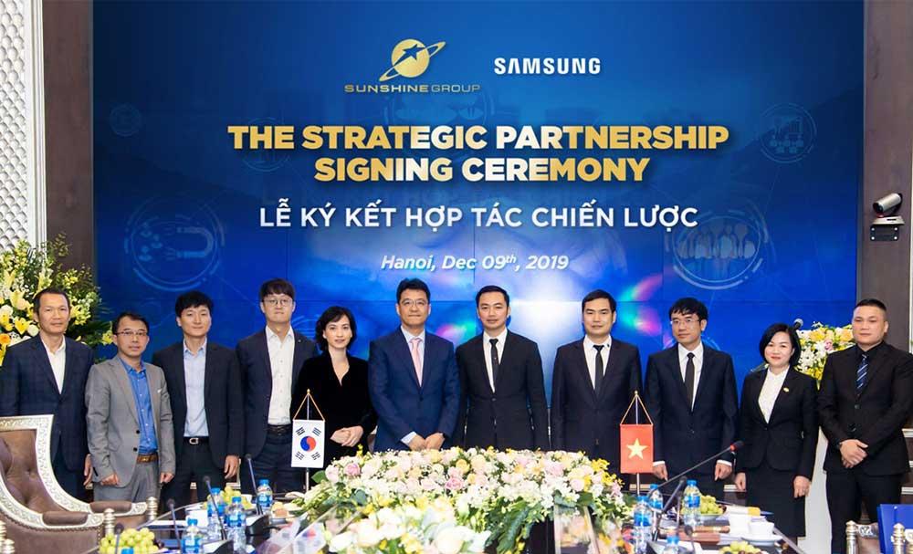 Sunshine group bắt tay hợp tác với Samsung