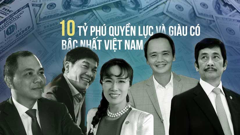 Top 10 tỷ phú việt nam