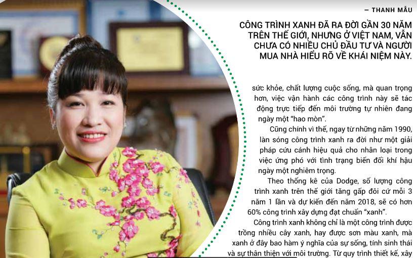 Bà Lưu Thị Thanh Mãu - Tổng Giám Đốc Phúc Khang