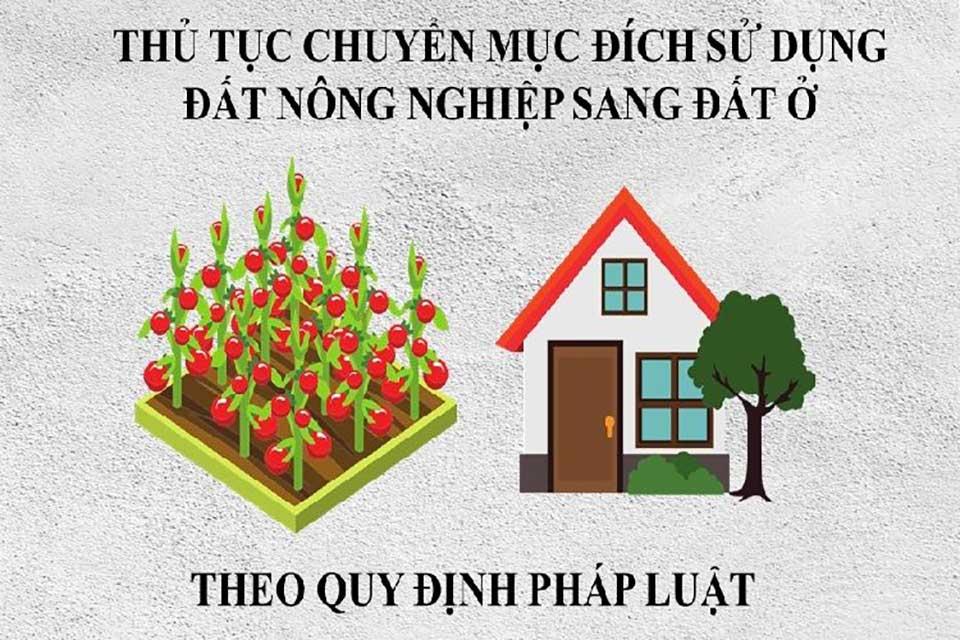 Chuyển đổi mục đích sử dụng đất nông nghiệp sang đất ở