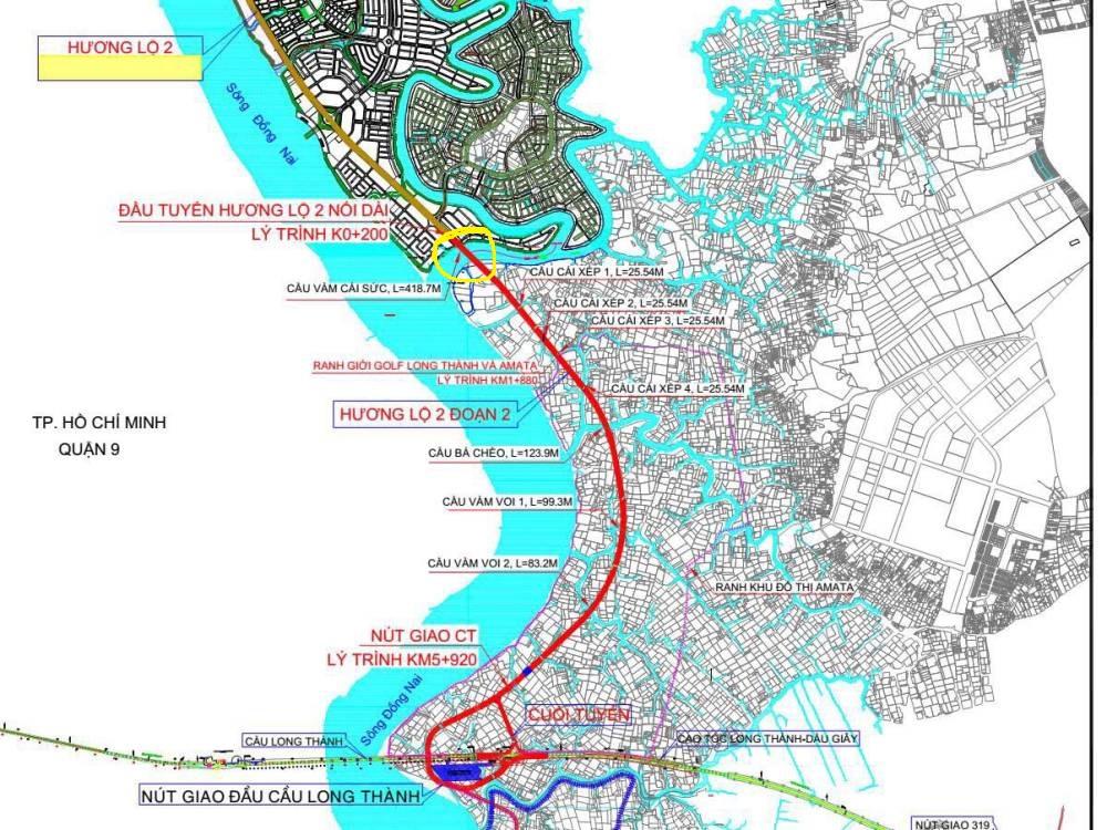 quy hoạch tuyến đường hương lộ 2 biên hòa đồng nai